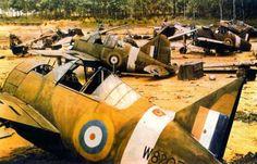1941 12 10 attaque de singapour par 25 Ki 43 et 63 Ki 21 ici BUFFALO RAF