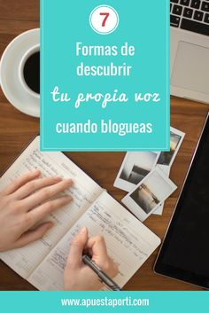7 FORMAS DE DESCUBRIR TU PROPIA VOZ CUANDO BLOGUEAS. Tu voz es la forma única en la que te expresas, la manera de escribir, de hablar, de editar, de escoger colores y un largo etc.  Es toda tu personalidad volcada en todo lo que haces. Encontrar tu voz te ayuda a darle forma a tu marca y a impulsar las visitas a tu blog. No es un proceso fácil, ni mucho menos corto.  Puede llevarte toneladas de tiempo y práctica.