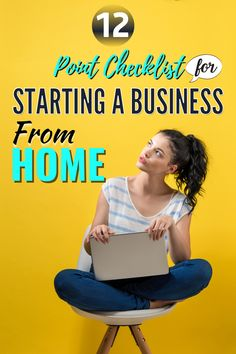 This checklist for starting a business from home will be useful for anyone who is new to homebased business or starting a business online. But also, new moms starting a first business as well as business owners who want to make sure their t's are crossed and i's dotted. Start A Business From Home, Creating A Business Plan, Home Based Business, Starting A Business, Business Planning, Business Ideas, Online Business, Way To Make Money, Make Money Online