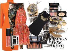 """Alexander McQueen Slim Fit Orange Coat"" by daincy ❤ liked on Polyvore"