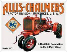 Tin Sign Allis Chalmers Model U