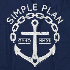 Anchor on Navy t-shirt $20