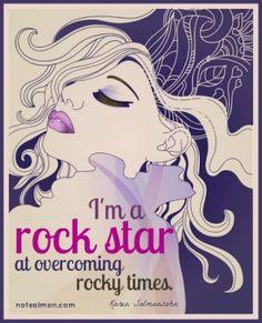I am a rock star cool girl 2 poster by Karen Salmansohn