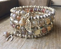 This 5 coil bracelet is made with stainless steel memory wire - will adjust to the size of your wrist and no chance of breaking. This will ensure