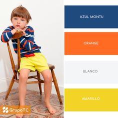 Colores vivos para un look infantil. Remera a rayas y pantalón amarillo para acompañar juegos y horas de descanso.   #PrendeteAlColor