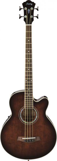 Ibanez AEB10E DVS Dark Violin Sunburst Acoustic Bass Guitar