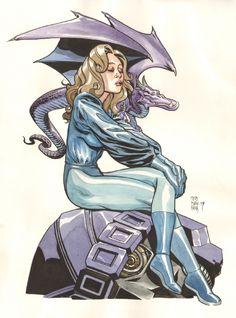 Kitty Pryde & Lockheed - Naifeh Comic Art
