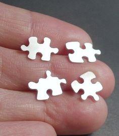 Jigsaw Puzzle Earrings
