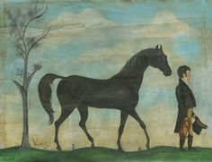 Spicher and Company Vintage Vinyl Floor Cloths Man with His Steed Rugs | Rugs Direct
