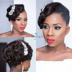 """@ennieyapha did an amazing job with Tutu's bridal makeover. Lovely Hair @tobbiestouch"""