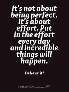 """""""It's not about being perfect. ... """" #PersonalLeadership #Women"""