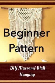 "Pattern pdf DIY Macramé Wall Hanging ""Beauregard"" Beginner Swag Design Basic Instructions Macrame Fiber Arts Pattern Only Diy Macrame Wall Hanging, Macrame Curtain, Macrame Art, Macrame Projects, Macrame Wall Hangings, Micro Macramé, Macrame Design, Macrame Tutorial, Macrame Patterns"