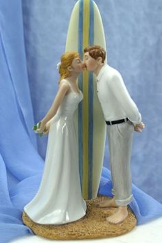 """Summer Lovin"" Wedding Cake Topper"