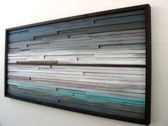 Arte de pared de madera arte de la pared del por ModernRusticArt