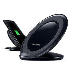 nice Samsung Galaxy S7/S7 Edge - Sannysis Cargador Qi Inalámbrico Wireless Pad de Carga Negro