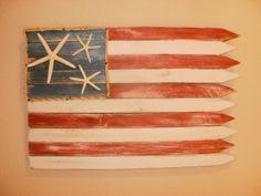 Americana Seaside Flag / Wall Decor by itscandygirl on Etsy