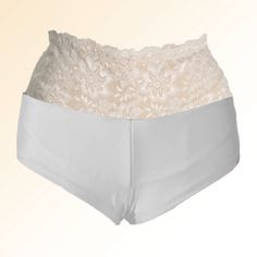 White Ostomy Booty Short. Crohns, Stretch Lace, Crohn's Disease, Bag Design, Surgery, Stupid, Booty, Medical, Medical Doctor