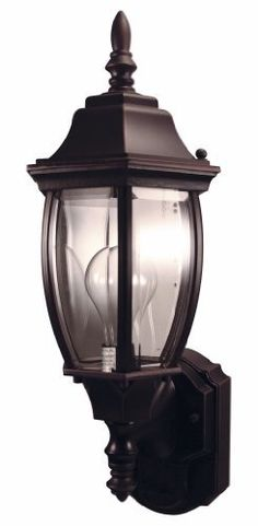 Heath/Zenith SL-4192-AZ 180-Degree Motion-Activated Alexandria Style Decorative Lantern, Antique Bronze by Heath/Zenith. $44.95. From the Manufacturer                The SL-4192-AZ 180-degree Outdoor Motion-Sensing Decorative Lamp is made of die-cast metal with a weather-resistant finish. The design incorporates clear, curved beveled glass in a antique bronze housing. It has 2-level brightness and a 30 feet detection range, making this a very stylish and practical sec...