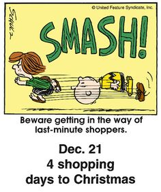 """Beware of getting in the way of last-minute shoppers."" #yankinaustralia #peanuts"