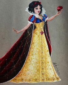 uau! Branca de Neve com seu mais belo vestido, esta linda de mais! *0*