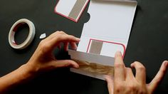 Create an interactive card with a few punches and a strip from a plastic shopping bag. For step by step still pictures and more tutorials visit our resources. Fancy Fold Cards, Folded Cards, Paper Cards, Diy Cards, Pop Up Karten, Waterfall Cards, Tarjetas Pop Up, Slider Cards, Paper Engineering
