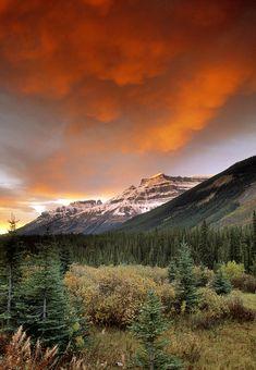 ✮ Mt. Amery And Dramatic Clouds - Banff, Canada