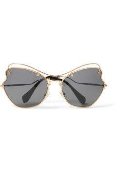 15c64d32e3 Gold-tone metal 100% UV protection Come in a designer-stamped velvet hard