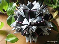 Origami ♥ Royal Lily ♥ Kusudama - Design von Uniya Filonova - YouTube