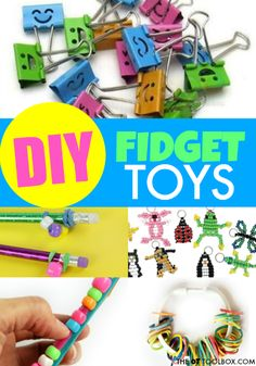 Kids can use these DIY fidget toys to help with attention and sensory needs in the classroom or at home.Tap the link to check out great fidgets and sensory toys. Check back often for sales and new items. Happy Hands make Happy People! Diy Fidget Toys, Diy Sensory Toys, Fidget Tools, Sensory Bins, Sensory Activities, Sensory Play, Diy Toys, Activities For Kids, Crafts For Kids