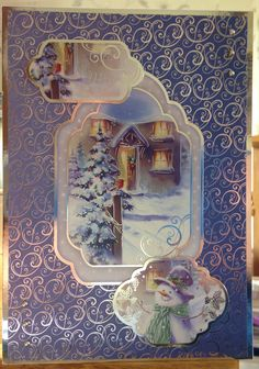Christmas Card (21) - A5 - makings from Hunkydory 'Snowy Season'