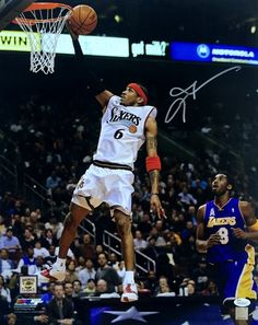 Featured is an Allen Iverson autographed 16x20 photo. This photo was hand-signed by Iverson and comes with the JSA hologram and matching Certificate of Authenticity. Allen Iverson was a star shooting