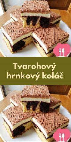 Czech Recipes, Sweet Cakes, Ice Cream Recipes, Sweet Desserts, Tiramisu, Waffles, Cake Recipes, Food And Drink, Cooking