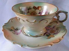 Šálek na čaj * krásně zdobený porcelán ♥