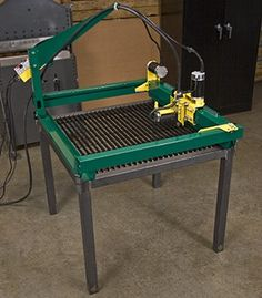 GoTorch CNC plasma cutting system mounted on a table Cnc Plasma Table, Cnc Table, Welding Design, Diy Welding, Welding Table, Metal Working Tools, Metal Tools, Wood Working, Metal Projects