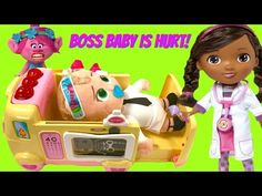 Bossy Baby Hurt in Fall and Needs Medical Help from Ambulance and Doc McStuffins - YouTube