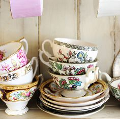 Unique Housewarming Gift   Vintage China Tea by PicturesLifeThings, $30.00