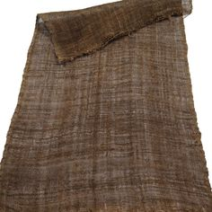 Old Japanese Kaya, Hemp Mosquito Netting Extra Nice!!  Dark Brown Color  Age: Early 1900s Fabric: Medium-Heavy Weight, Very Loose Weave, Homespun and Hand Loomed Size: 13 X 20 inches 33 X 50 cm  Very Good Condition. No Spots but a few very small holes.  Weve washed and ironed this textile, its ready for your project.  Fixed $5 shipping charge for 1 or more items shipped to a single destination. Or low cost EMS shipping