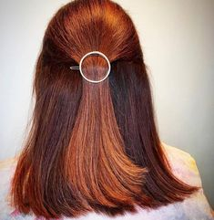 Warm copper red tones are perfect on this lob. Created by Wella Certified Master Color Expert Nikki at The Warren Salon.
