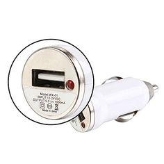 VEVOR Adaptador del Cargador del Coche del Puerto Car Charger Single y 2.0 USB Cable de Datos para los Varios Dispositivos móviles for iPhone iPod iPad Samsung iPad iPod (Blanco) - http://complementoideal.com/producto/tienda-socios/vevor-adaptador-del-cargador-del-coche-del-puerto-car-charger-single-y-2-0-usb-cable-de-datos-para-los-varios-dispositivos-mviles-for-iphone-ipod-ipad-samsung-ipad-ipod-blanco/