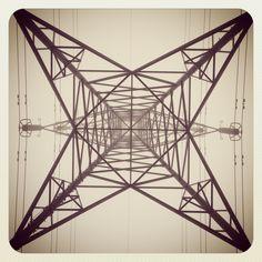 Frosty electricity pylon.