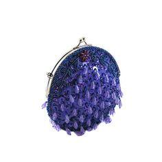Majestic Purple Round Teardrop Sequin Clutch