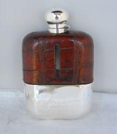 asprey leather flask - Google Search