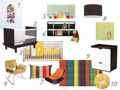 bright and bold gender neutral nursery