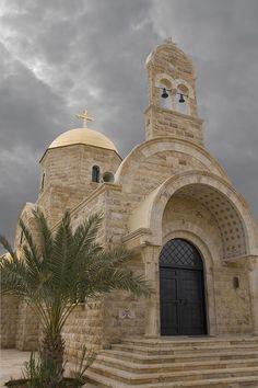 Iglesia de San Juan Bautista, el río Jordán, Israel.