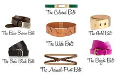 Seven Belts that Every Woman Needs