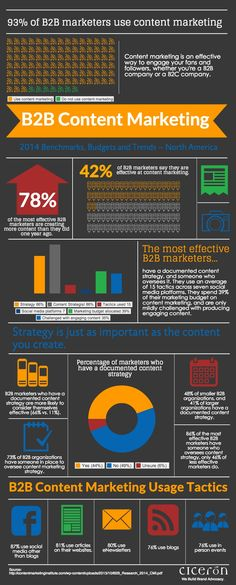 B2B Content Marketing Strategy In 2014  #Infographic #B2B #ContentMarketing
