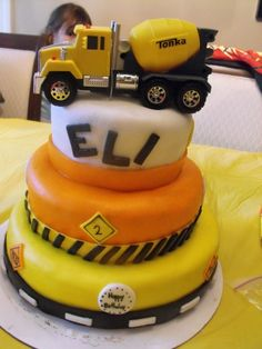 Construction Birthday Cake. $140.00, via Etsy. Indianapolis