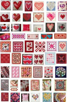 Quilt Inspiration: FREE PATTERN Archive HEARTS AND VALENTINE QUILTS