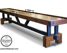 Craftsman Shuffleboard | Etsy Basement Games, Shuffleboard Table, Vintage Industrial Furniture, Table Games, Outdoor Furniture, Outdoor Decor, Crafts To Sell, Wood Crafts, Playroom