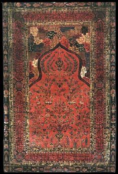 Persian Tabriz prayer rug, Azerbaijan, NW Iran, 19th century